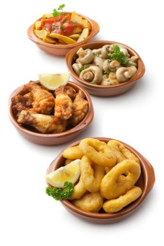 Chicken Wing「Tapas: Calamares, Chicken, Mushrooms and Patatas Bravas」:スマホ壁紙(14)