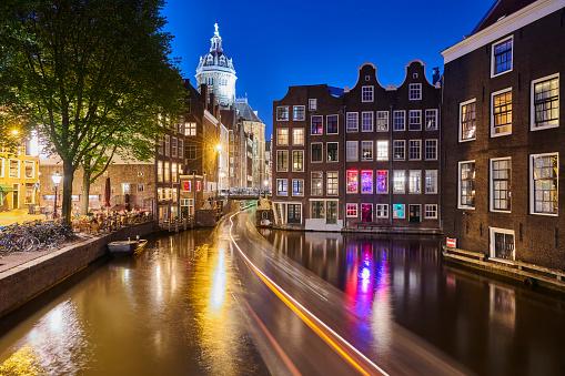 Amsterdam「Amsterdam Canal at Dusk」:スマホ壁紙(5)