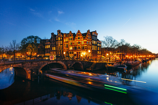 Amsterdam「Amsterdam Canals by Night」:スマホ壁紙(8)