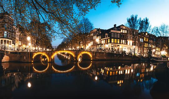 Amsterdam「Amsterdam Canals by Night」:スマホ壁紙(13)