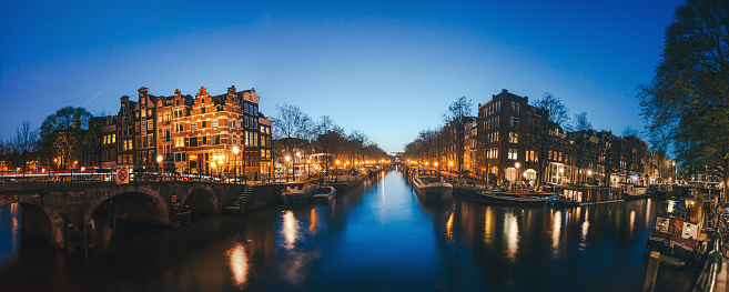 Amsterdam「Amsterdam Canals by Night」:スマホ壁紙(9)