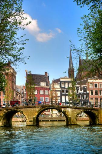 オランダ「アムステルダムの運河の風景」:スマホ壁紙(4)