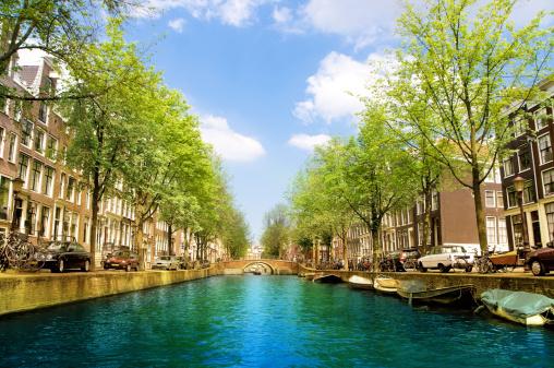 Amsterdam「Amsterdam City Scene Water Canal」:スマホ壁紙(17)
