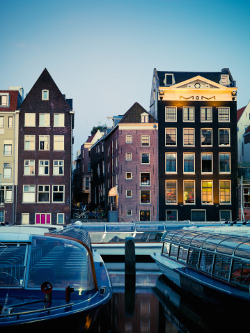 Amsterdam「Amsterdam City Twilight Scene」:スマホ壁紙(5)