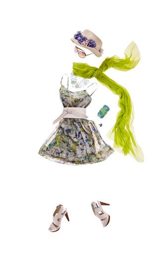 Vertical「Women's clothing arranged on white」:スマホ壁紙(18)