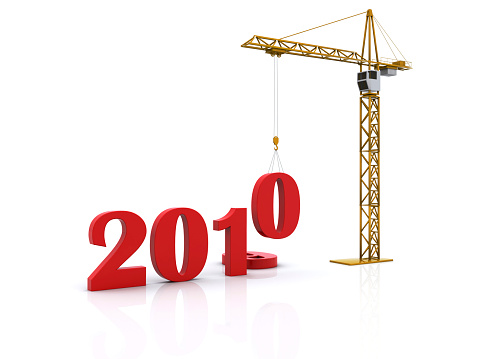 New Year「New Year 2010 with crane lowering numbers」:スマホ壁紙(3)