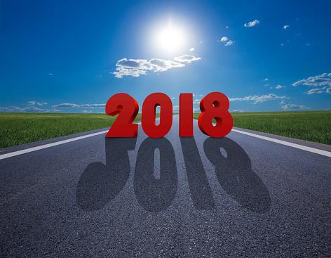 お正月「新年の 2018 年先」:スマホ壁紙(2)