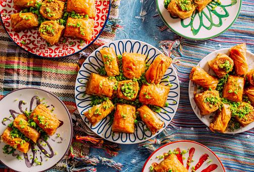 Joy「Top View Turkish Dessert Baklava」:スマホ壁紙(9)
