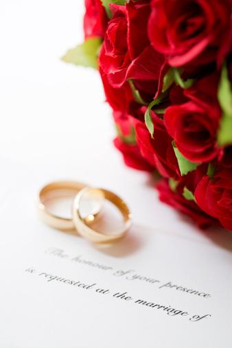 Wedding Invitation「Wedding Invitation and Rings」:スマホ壁紙(15)