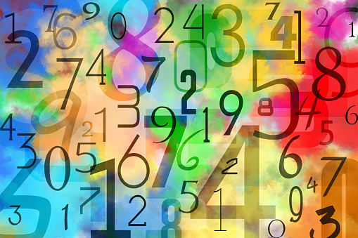 Number「Colorful numbers background」:スマホ壁紙(8)