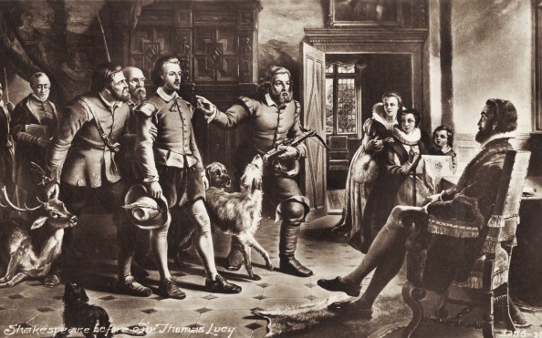 Prosecution「William Shakespeare, the famous English dramatist,  poet and actor standing before the Warwickshire gentleman, Sir Thomas Lucy who prosecuted him for stealing deer from Charlecote Park.」:写真・画像(14)[壁紙.com]