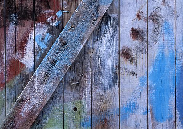 Textured「Different sprayed colours on door」:写真・画像(7)[壁紙.com]