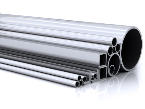 Cylinder「Different size steel pipes in a row」:スマホ壁紙(6)