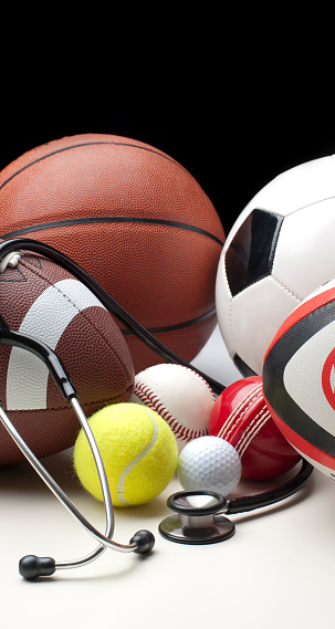 Competitive Sport「Different sports balls with stethoscope」:スマホ壁紙(14)