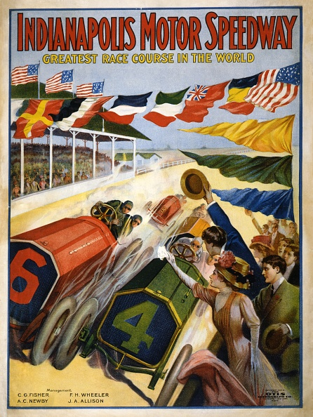 モータースポーツ「Poster Advertising The Indianapolis Motor Speedway」:写真・画像(10)[壁紙.com]