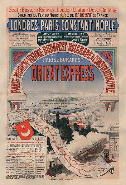 Poster「Poster Advertising The Orient Express」:写真・画像(4)[壁紙.com]
