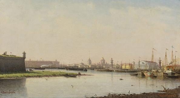 Neva River「View Of Saint Petersburg Artist: Vereshchagin」:写真・画像(5)[壁紙.com]