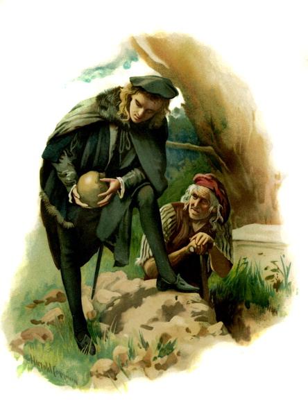 絵「Hamlet holds the skull of  the jester Yorick」:写真・画像(14)[壁紙.com]