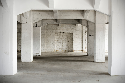 Brick Wall「Indoor shot, old abandoned factory building」:スマホ壁紙(9)