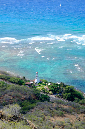 オアフ島「USA, Hawaii, Honolulu, lighthouse as seen from Diamond Head」:スマホ壁紙(3)