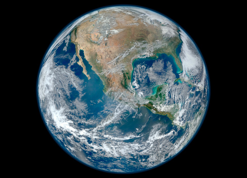 Planet Earth「January 4, 2012 - A Blue Marble image of Earth showing North America.」:スマホ壁紙(12)