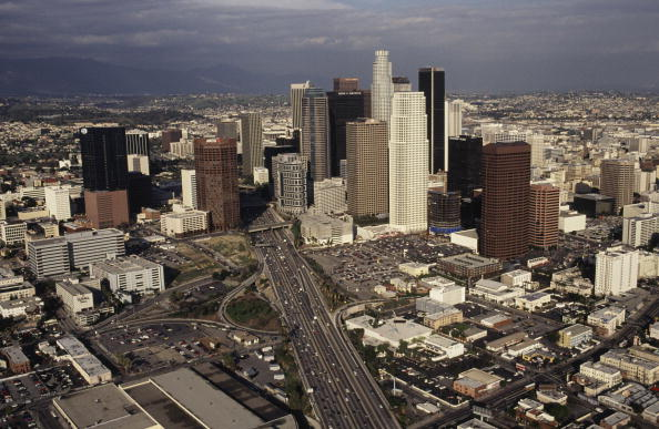 Cityscape「Aerial Photo of Downtown Los Angeles」:写真・画像(9)[壁紙.com]