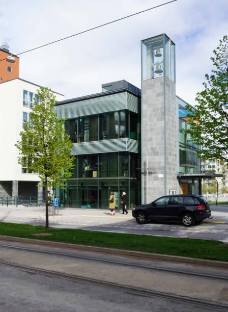Community church within the mixed use regeneration scheme at Hammarby Sjostad, Stockholm, Sweden:ニュース(壁紙.com)