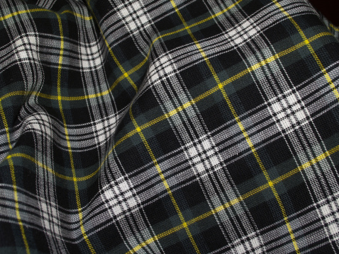 スコットランド文化「波打つグリーンのタータン」:スマホ壁紙(7)