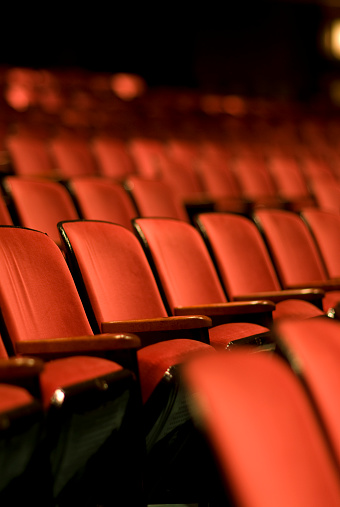 Film Industry「Theater seats in an empty Theater」:スマホ壁紙(8)