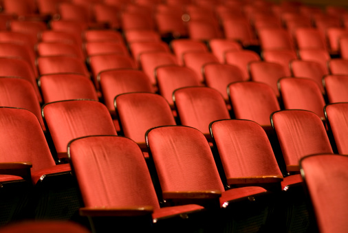 Seat「Theater Seats in an empty auditorium」:スマホ壁紙(2)