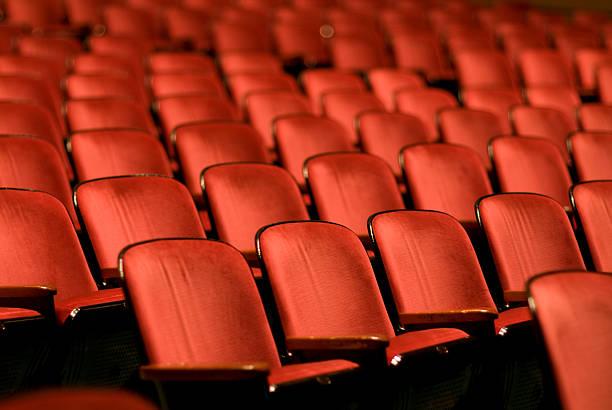 Theater Seats in an empty auditorium:スマホ壁紙(壁紙.com)