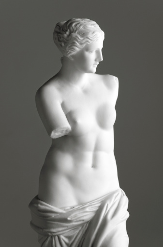 Statue「Venus de Milo on grey」:スマホ壁紙(2)