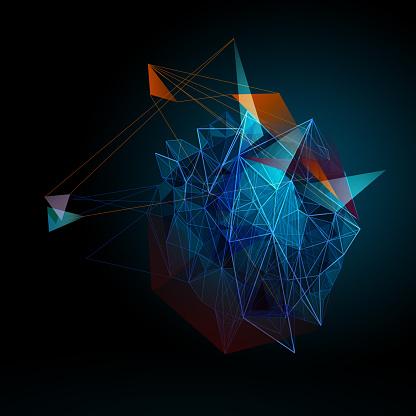 Triangle Shape「Colour triblue」:スマホ壁紙(10)