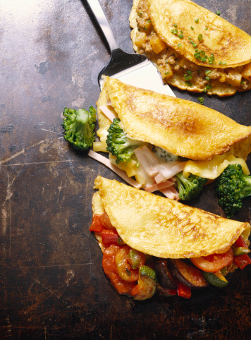Griddle「Hearty Pancakes with Ground Meat; Broccoli and Ratatouille」:スマホ壁紙(14)