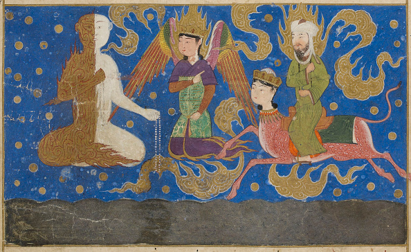 Painted Image「Ascent Of Muhammad To Heaven. From Miraj Nameh」:写真・画像(12)[壁紙.com]
