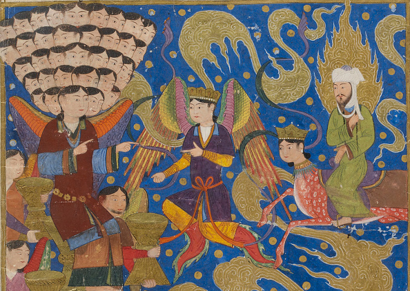 Painted Image「Ascent Of Muhammad To Heaven. From Miraj Nameh」:写真・画像(14)[壁紙.com]