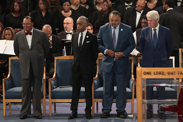 Louis Farrakhan「Soul Music Icon Aretha Franklin Honored During Her Funeral By Musicians And Dignitaries」:写真・画像(1)[壁紙.com]