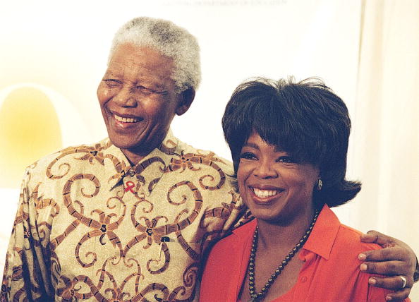 Leadership「Former President Nelson Mandela and Oprah Winfrey at the launch of the Oprah Winfrey Leadership Academy for Girls School in Vaal, South Africa.」:写真・画像(19)[壁紙.com]