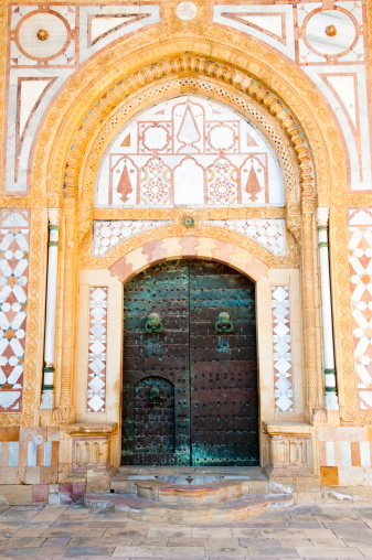 Baroque Style「Door at Beiteddine Palace」:スマホ壁紙(17)