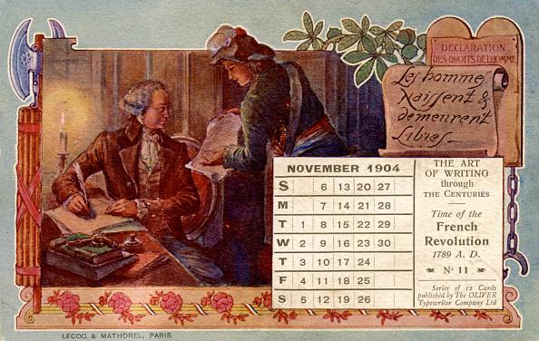 カレンダー「Declaration of the rights of Man 1789」:写真・画像(4)[壁紙.com]