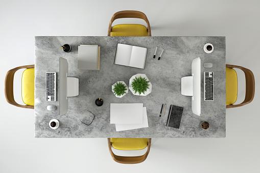 Chair「Office business team desk copy space knolling template」:スマホ壁紙(8)