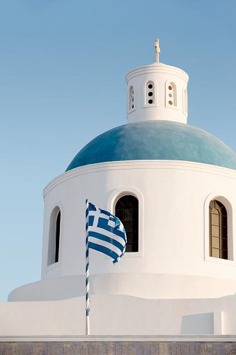 Aegean Sea「Ekklisia Panagia Platsani Church, Santorini」:スマホ壁紙(1)