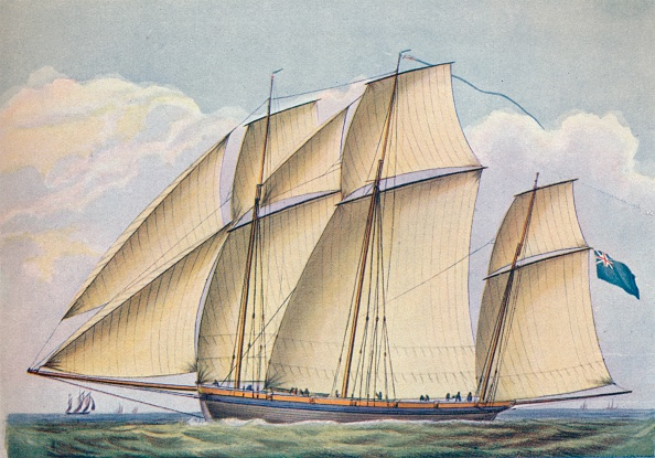 Overcast「'Armed Lugger Close Hauled With All Sail Set', 1825」:写真・画像(12)[壁紙.com]