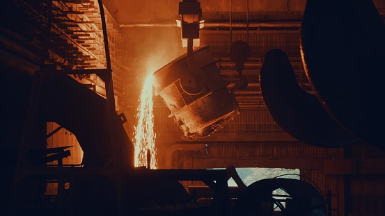 Foundry「Steel mill factory - molten metal in vat」:スマホ壁紙(6)