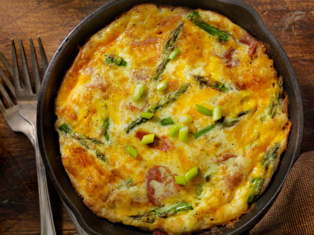 Cheese Frittata with Asparagus and Prosciutto:スマホ壁紙(壁紙.com)