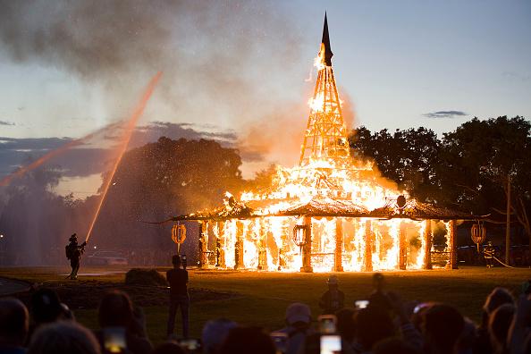 "Bestpix「""Temple Of Time"" Art Installation Burned In Ceremonial Fire」:写真・画像(19)[壁紙.com]"