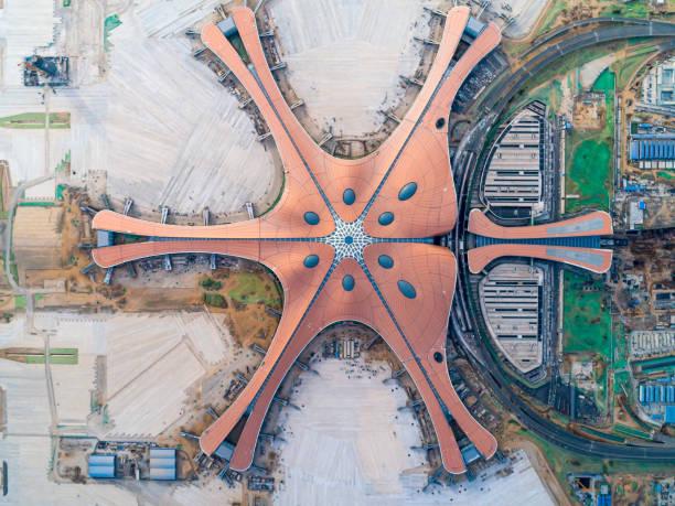 Beijing Daxing Airport Aerial View:スマホ壁紙(壁紙.com)