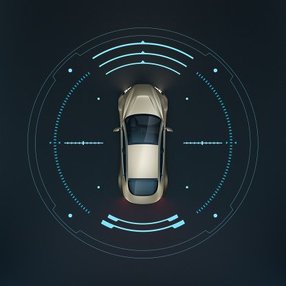 Automobile Industry「Smart car rs topview - illustration」:スマホ壁紙(14)