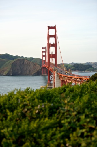 20th Century Style「Curve of the Golden Gate Bridge,  view to Marin County」:スマホ壁紙(15)