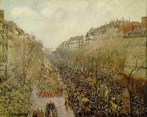 風景(季節別)「Boulevard Montmartre: Mardi Gras 1897」:写真・画像(5)[壁紙.com]